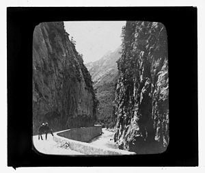 Axat - The Gorge of Saint Georges at the end of the 19th century