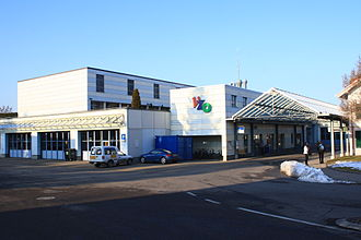 Grüningen - The headquarters of the Verkehrsbetriebe Zürichsee und Oberland (VZO) in Grüningen