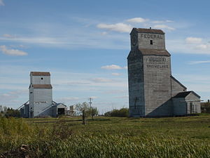 Snowflake, Manitoba - Grain Elevators at Snowflake