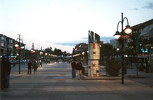 Gran Via, the pedestrianized centre of Majadahonda