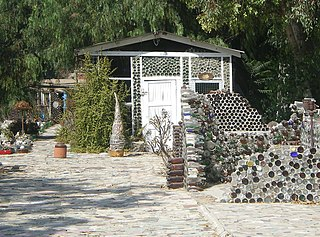 Grandma Prisbreys Bottle Village Art environment in Simi Valley, California, United States