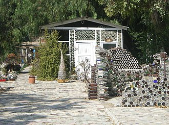 California Historical Landmarks in Ventura County, California - Image: Grandma Prisbrey's Bottle Village (3)