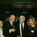 Grant Tinker and Carl Reiner with Jennie Frankel and Terrie Frankel at the Producers Guild of America Awards.jpg