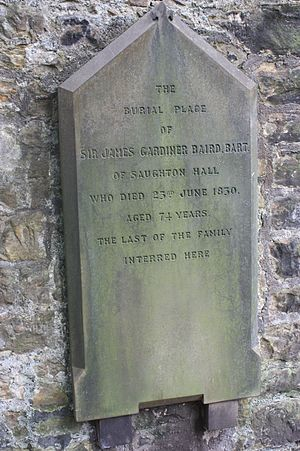 Baird baronets - Grave of Sir James Gardiner Baird, 6th Baronet, St Cuthberts, Edinburgh