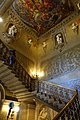 Great Staircase, ceiling painted by Antonio Verrio, 1691, statues by Caius Gabriel Cibber, Chatsworth House - Derbyshire, England - DSC03138.jpg