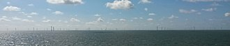 Greater Gabbard wind farm - As seen from the Stena Line Harwich to Hook of Holland car ferry in 2014.