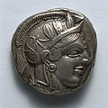 Greece, Athens, late 6th-early 4th century BC - Stater- Archaic Head of Athena (obverse) - 1916.992.a - Cleveland Museum of Art.jpg
