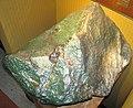 Green nephrite jade ventifact (Precambrian; Crooks Mountain, Fremont County, Wyoming, USA) 8 (24023168474).jpg