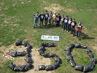350.org - 10.10.10. 350.org in Baku, Azerbaijan