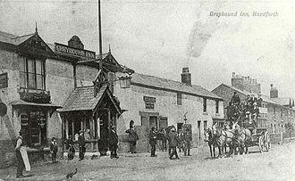 Handforth - Greyhound Inn, Handforth c.1905 (since demolished)