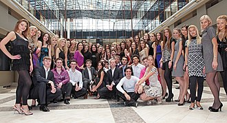 """Miss Russia 2010 - 14 February 2010. Finalists of Miss Russia 2010, a rehearsal of the Eighth Viennese Ball in Moscow """""""