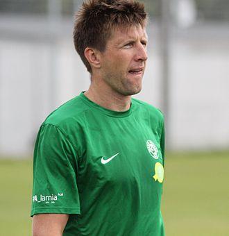 Grzegorz Rasiak - Rasiak training with Warta Poznań in August 2013