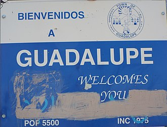 Guadalupe, Arizona - Image: Guadalupe Welcome to Guadalupe sign