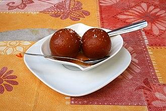 South Asian sweets - Image: Gulab jamun Lavapies (Spain)
