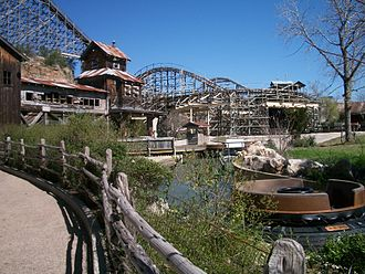 Six Flags Fiesta Texas - The Gully Washer located in Crackaxle Canyon