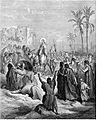 Gustave Dore - Jesus rides into Jerusalem on a donkey on Palm Sunday.jpg