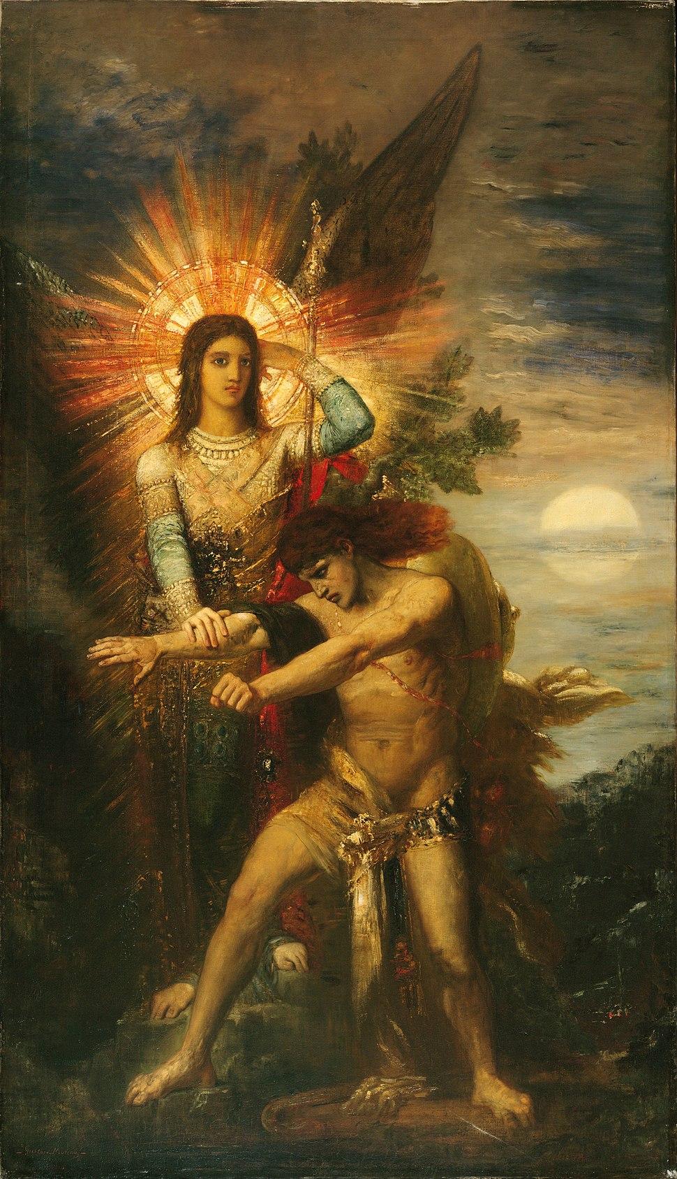 Gustave Moreau - Jacob et l'ange