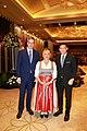 H.E. Vincent Piket (Europe Union Ambassador) - H.E. Helene Steinhäusl (Austrian Ambassador) - H.E. Tirta BambangWirawan at the Austrian National day.jpg