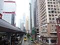 HK 上環 Sheung Wan north 干諾道中 Connaught Road Central footbridge view Shun Tak Centre morning August 2019 SSG 05.jpg
