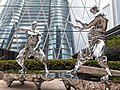 HK 中環 Central 交易廣場 Exchange Square sculpture fighting silver men July 2021 SS2 01.jpg