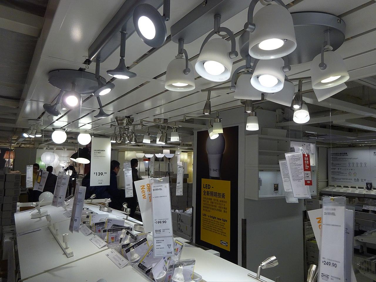 SÖdersvik Led Ceiling Lamp Ikea: File:HK CWB Park Lane Basement Shop IKEA Lighting Ceiling