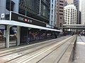 HK Central 德輔道中 Des Voeux Road Central 新顯利大廈 New Henry House Tram stop rail HSBC Sevens Serious Play March-2012.jpg