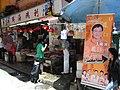 HK Central Gage Street shop HKFTU Wong Kwok Hing banner Aug-2012.JPG