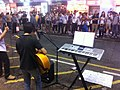 HK Mongkok 西洋菜南街 Sai Yeung Choi Street South night outdoor music performer Visitors July-2011.jpg