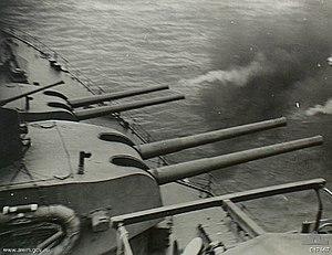 HMS Shropshire - Image: HMAS Shropshire Morotai 017667