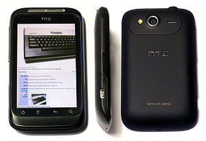 English: HTC Wildfire S Android smartphone fro...