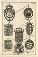 HUA-38700-Afbeelding van de wapens van de afgevaardigden Hündheim St Severini Werthern Gersdorf en Lagnasco vertegenwoordigers namens de Paltz Parma Polen en Sa.jpg