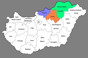 észak kelet magyarország térkép Észak Magyarország – Wikipédia észak kelet magyarország térkép