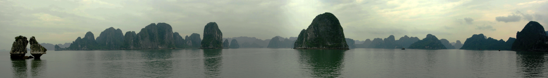 Panorama van Halong Bay in Vietnam