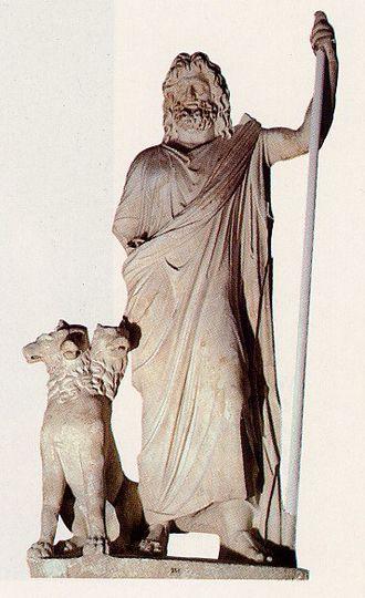 Greek underworld - Hades with Cerberus.