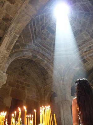 Haghartsin Monastery - Summer sunlight illumination