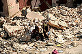 Haitian women amidst rubble in Port-au-Prince 2010-01-20.JPG