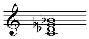 Half-diminished seventh chord - Image: Half diminished seventh chord on C