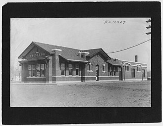 National Register of Historic Places listings in Harvey County, Kansas - Image: Halstead Depot 00133826