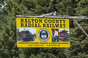 Halton County Radial Railway - Look for the sign on Guelph Line.