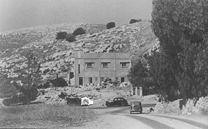Hartuv - Road to Har Tuv joins the main road to Jerusalem, 1948