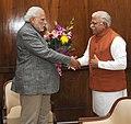 Haryana CM Manohar Lal Khattar meets PM Modi.jpg