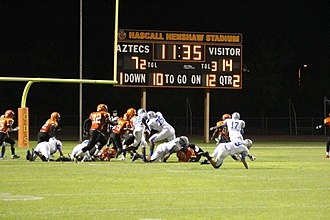 Corona del Sol High School - The Aztecs compete at Hascall Henshaw Stadium, located on the school's campus