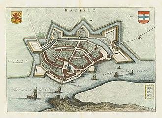 Hasselt, Overijssel - Image: Hasselt 1649 Blaeu