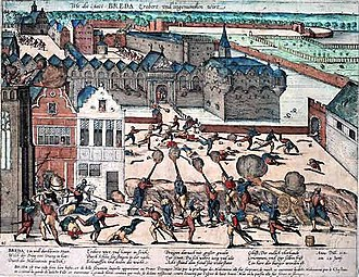 Breda - Haultpenne's soldiers vent their fury upon the citizens of Breda in 1581