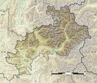 Hautes-Alpes department relief location map.jpg