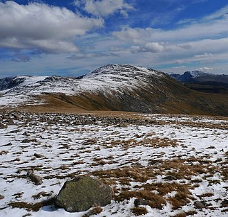 Haycock (Lake District) - Image: Haycock from caw fell