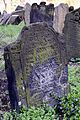 Headstones at Old Jewish Cemetery in Prague Czech Republic in April 2015.jpg