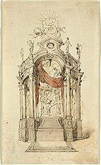Design for a St. Ignatius Loyola altar, 1697