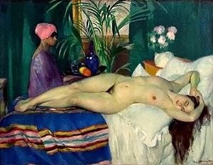 Henri Ottmann - Image: Henri Ottmann, 'Courtisane Endormie', 1920