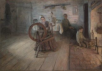Henry Ossawa Tanner - Spinning By Firelight, 1894